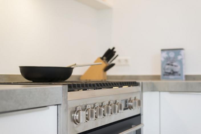 Keuken met gaskookplaat