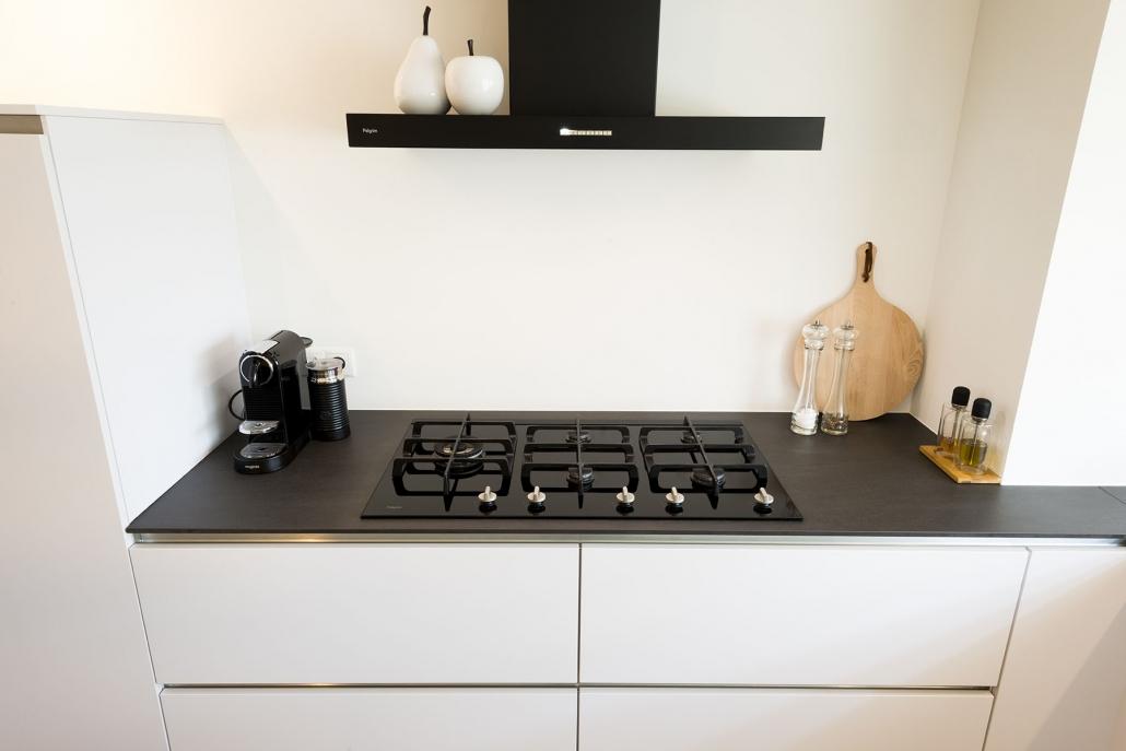 Gaskookplaat designkeuken
