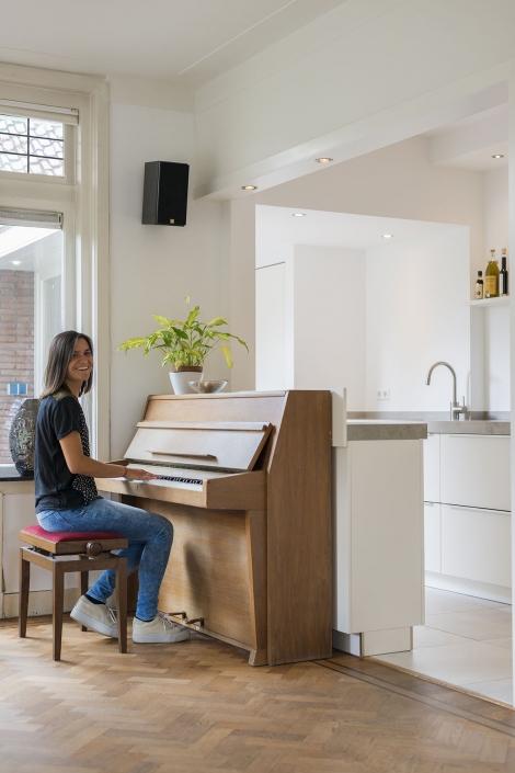 Piano in leefkeuken
